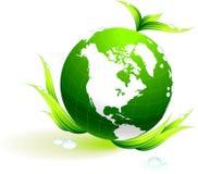 Globe sur le fond organique de lames illustration libre de droits