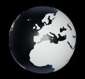 globe sur le noir illustration de vecteur
