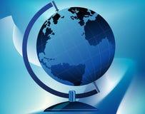 Globe sur le support photographie stock