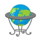 Globe sur le support Modèle de la terre Atlas géographique d'école Image libre de droits