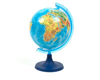Globe sur un fond blanc photo stock