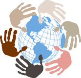 Globe Surrounded By Hands Royalty Free Stock Photo