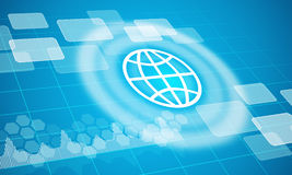 Globe symbol with circles Stock Images