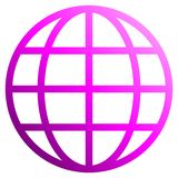 Globe symbol icon - purple gradient, isolated - vector. Illustration vector illustration