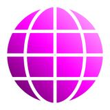 Globe symbol icon - purple gradient, isolated - vector. Illustration stock illustration