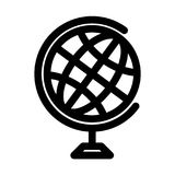Globe symbol. Planet Earth or internet browser sign. Outline modern design element. Simple black flat vector icon with royalty free illustration