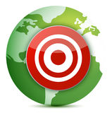Globe target Royalty Free Stock Photography