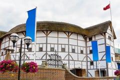 The Globe teater London England Fotografering för Bildbyråer