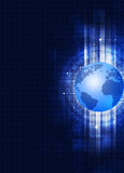 Globe Technology Abstract Blue Background Stock Photo