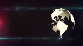 Globe technology background LOOP stock footage