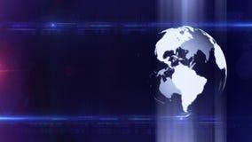 Globe technology background LOOP stock video