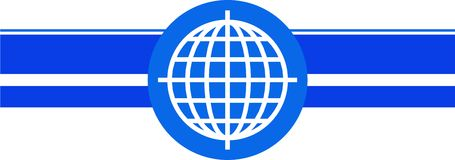 Globe template Royalty Free Stock Image