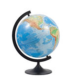Globe terrestre d'isolement Photographie stock