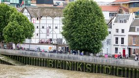 The Globe Theatre. London, UK - 5th June 2017: The Globe Theatre on the river Thames in London. This is a replica of the original playhouse built by William Stock Images