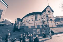 The Globe Theatre, London, UK royalty free stock photo