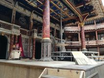 Globe Theatre. Stage of Shakespeare& x27;s Globe Theatre stock images