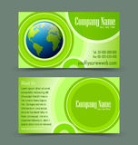 Globe theme business card Stock Photos