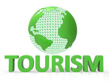 Globe Tourism Means Globalise Travel And Worldly Royalty Free Stock Photo