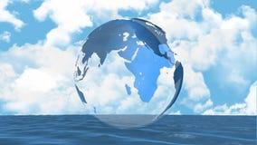 Globe tournant illustration de vecteur