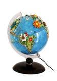 Globe toy over white Royalty Free Stock Photos