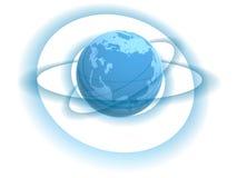 Globe and tracks Royalty Free Stock Photos