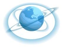 Globe and tracks Stock Photo