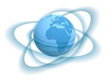 Globe and tracks Stock Image