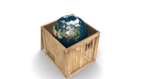 Globe in a transportation box stock video footage