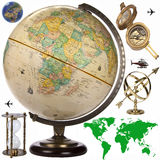 Globe - Travel Obects - Isolated Royalty Free Stock Photography