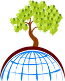 Globe tree Royalty Free Stock Image