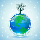 Globe with tree Stock Image
