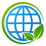 Globe tree blue and green eco concept stock illustration