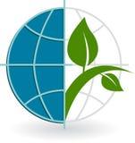 Globe tree logo Royalty Free Stock Photography