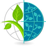 Globe tree logo Royalty Free Stock Photos