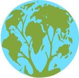 Globe & tree Royalty Free Stock Image