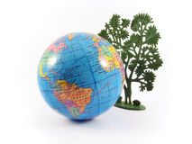 Globe tree planet earth Stock Photo