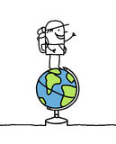 Globe trotter royalty free illustration