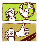 Globe trotter & hitchhiker Stock Photos