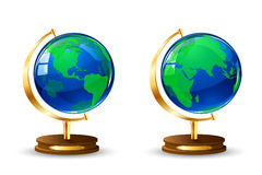 Globe. Two globe  on white background, illustration Royalty Free Stock Photo