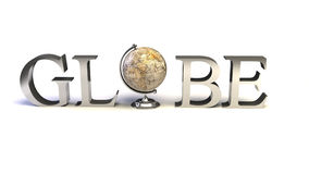 Globe type stock illustration