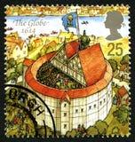The Globe UK Postage Stamp Royalty Free Stock Photo