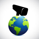 Globe under surveillance illustration design Royalty Free Stock Photography