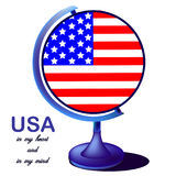 The globe of the USA royalty free illustration