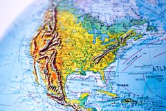 Globe - USA - North America Royalty Free Stock Photography