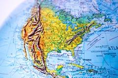 Globe - USA - North America. Part of a globe, showing North America and the United states of America royalty free stock photography