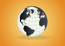 Globe vector. Vector globe in gradient background Stock Image