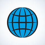 Globe. Vector drawing Stock Images