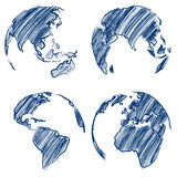Globe vector Royalty Free Stock Image