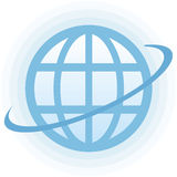 Globe Vector Icon. Vector icon for web, software etc. on white background Royalty Free Stock Image