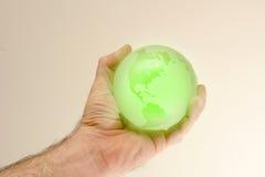 Globe vert Photographie stock